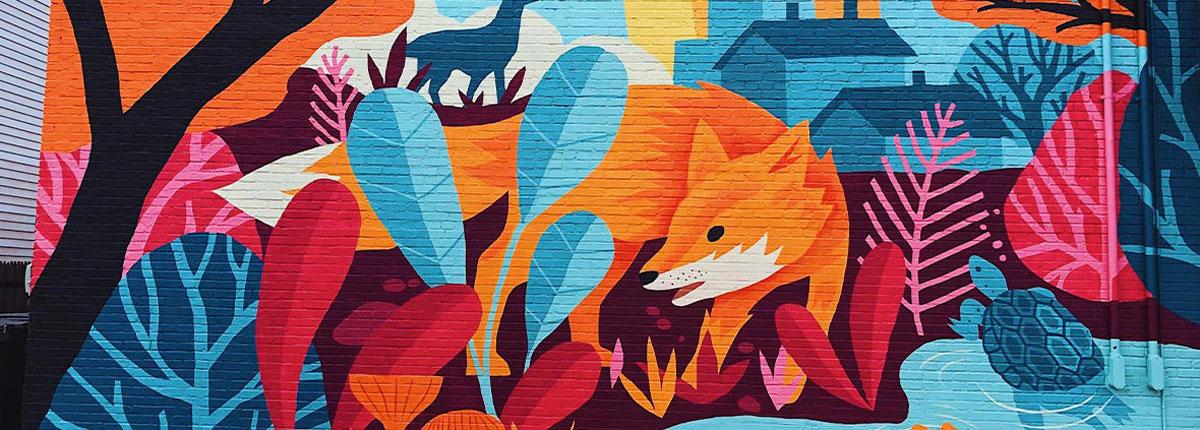 visit arlington art mural